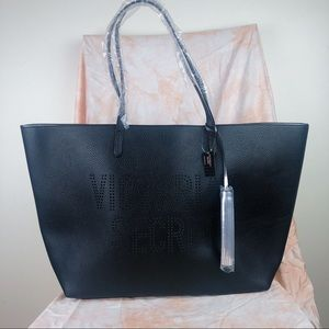 Victoria's Secret | NWT Faux Leather Black Tote